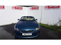 2004 53 BMW Z4 3.0 ROADSTER.GREAT COLOUR.FULL S/H.GREAT LOOKING CAR.PX WELCOME .