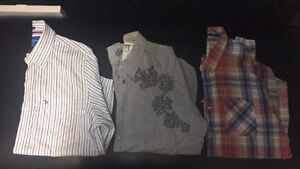 Mens XXL Guess and Abercrombie button ups