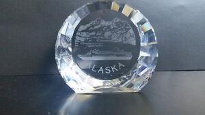 Rare SWAROVSKI CRYSTAL Alaska CRUISESHIP PAPERWEIGHT ~ NEW ~