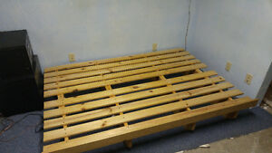 Futon - Wood L-Frame Good Condition