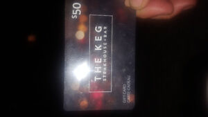 $50 Gift card to the keg..hasn't been used at all
