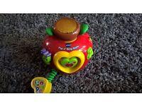 V-tech Pop n'sing Apple baby toddler toy