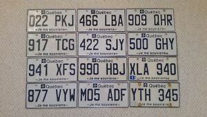 Quebec License Plate to Trade