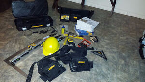 Tool Box, Belt and Tools and 1st Year Carpentry Books