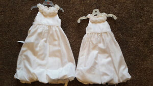 White Taffeta Flower girl dresses-BNWT