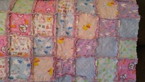 Homemade rag quilts