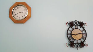 2 clocks are for sale, one for $10 or both for $15!