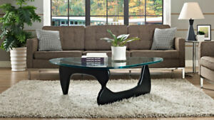 Noguchi Coffee Table - BRAND NEW - Black base, glass top
