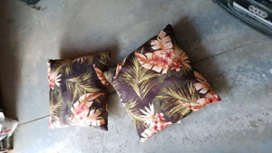 outdoor seat cushions/ pillows