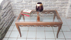 ANTIQUE ORNATE CARVED COFFEE TABLE