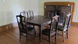 Antique Cherry Wood Dining Set