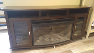 Media Console with Fireplace