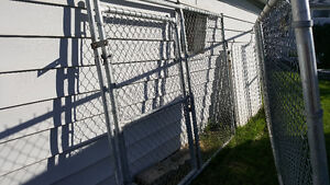 Chain link fence panels with gates