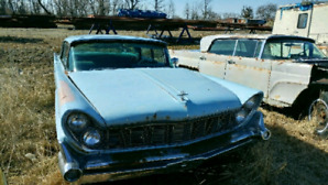 1959 LINCOLN AND A PARTS CAR 4 FOR 1 $3800