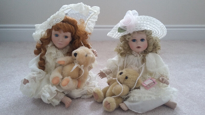 Ashton Drake 1992 & 1993 collectible dolls Colleen & Alicia