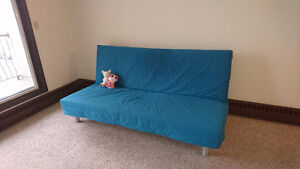 Sofa-bed, double bed, mattress, dining table, 4 chairs, IKEA