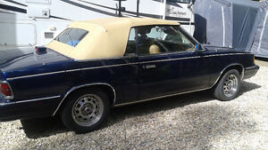 Blue/tan roof  convertible  dodge 600 K-Car
