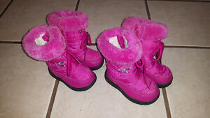 Pink Girl's Winter Boots - Like NEW !! Two Sizes Cambridge Kitchener Area image 1