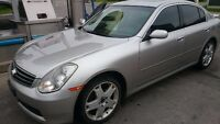 2005 Infiniti G35 Navigation sunroof leather km168000 Etst $3900