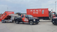 Rental Bins for garbage removal, roofing, yard work, curb side p