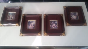 4 BEAUTIFUL WOODEN PICTURE FRAMES 8x10
