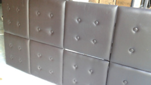 Head board  great condition attaches to the wall, queen size