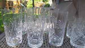 Pinwheel crystal glasses Kitchener / Waterloo Kitchener Area image 3