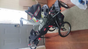 Baby trend stroller with car seat and base