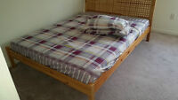 Queen Size Bed with Mattress (5 months used)