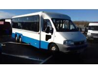 Fiat DUCATO 15 JTD 14 seater bus with wheelchair access ramp+floor tracking