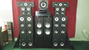 Yamaha 7.1 surround sound receiver + sub woofer + 12 speakers!!