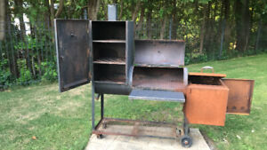 Tejas smoker. Serious smoker for your BBQ pit