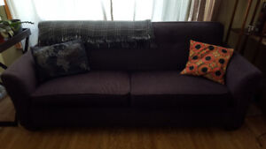 Large and comfortable dark purple couch - $60 obo