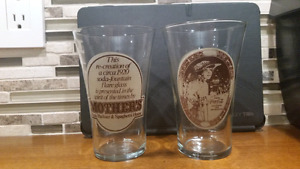 Set of 2 COCA-COLA-MOTHER'S PIZZA FLARED DRINKING GLASS. 16oz