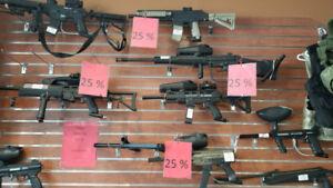 Spécial -25% sur fusils paintball et équipements.