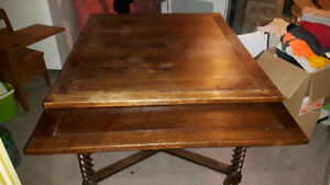 Antique Scottish tiger oak table
