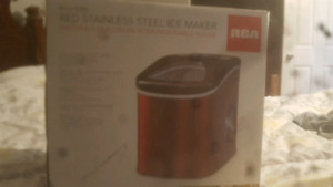 m salling  a brand new in the box red steel ice maker