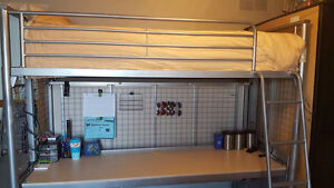 Murphy Hidden Steel Bunk Beds / Loft Bed Converts to a Desk!!!!!