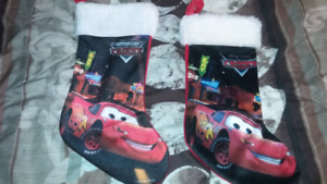 2 MCQUEEN CHRISTMAS STOCKINGS