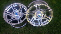 4 Polaris Chrome Polished Aluminum Quad or Rzr Rims