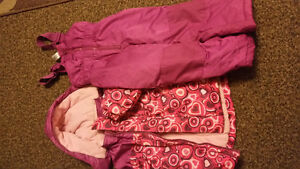 Girl winters jacket and snow pant