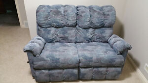 COUCH & LOVE SEAT, RECLINER