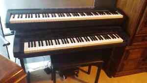 2 yamaha digital pianos