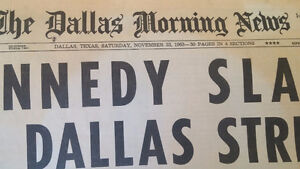 Dallas Morning Post, Nov. 23, 1963 reporting Kennedy killing London Ontario image 2