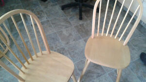 Solid wood kitchen chairs