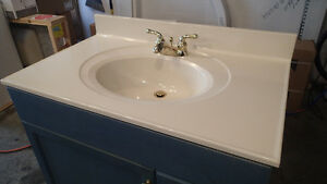 "36"" Vanity With Moen Taps, Sink and Countertop"