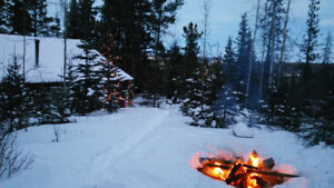 Cabin west of Calgary with fireplaces