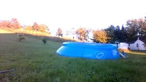inflatable pool with cover