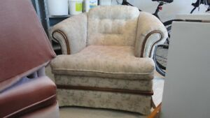 CHAIR, UPHOLSTERED. $20 FROM $40