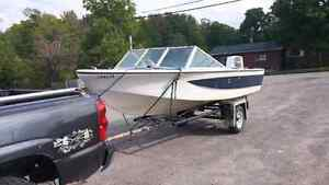 1985 Northcraft with 70hp johnson, trailer and tilt /trim Peterborough Peterborough Area image 4